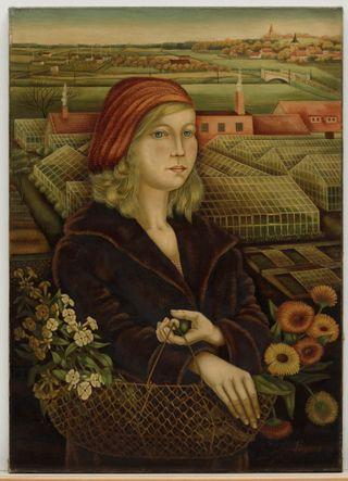 Grethe Jürgens. Blumenmädchen. 1931. Sprengel Museum Hannove